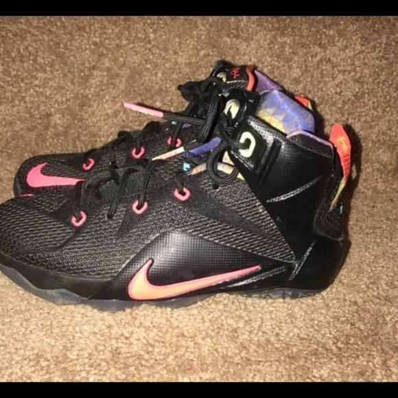 best sneakers 374c4 27dd3 LeBron 12s kids shoes size 4Y
